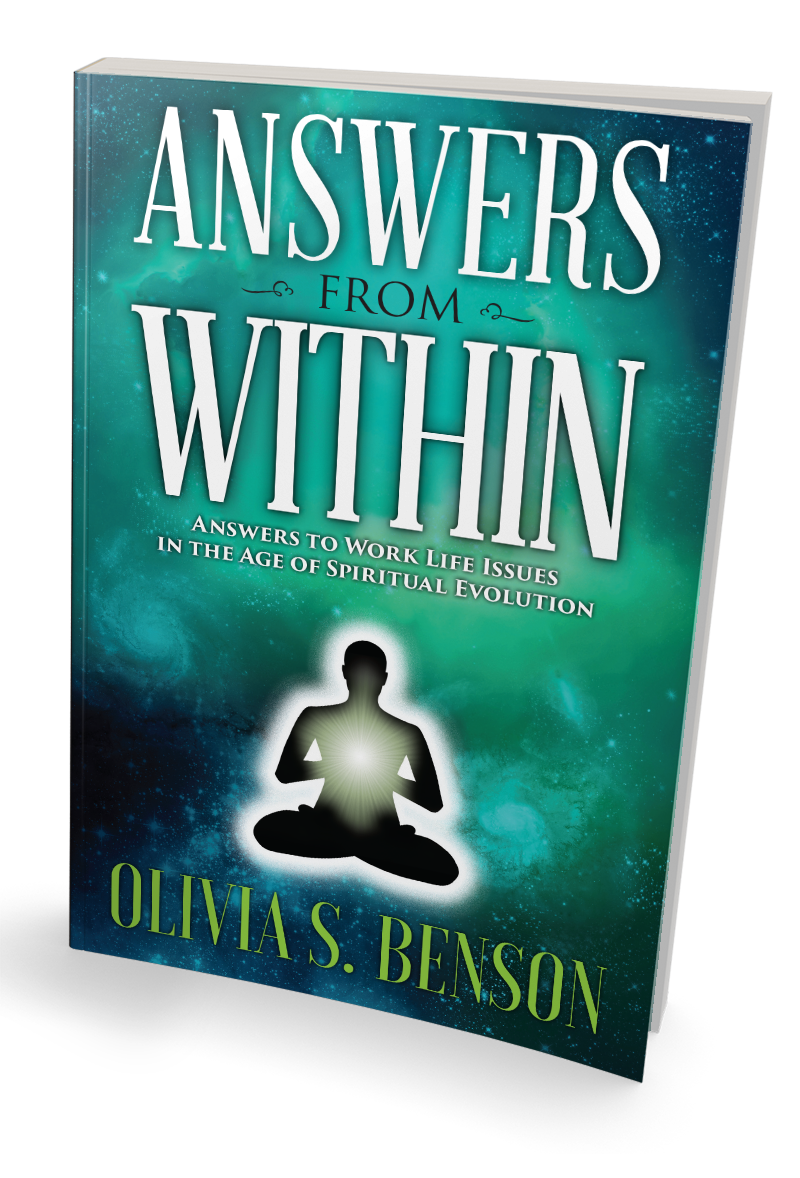 Answers from Within Book tilted to the right.